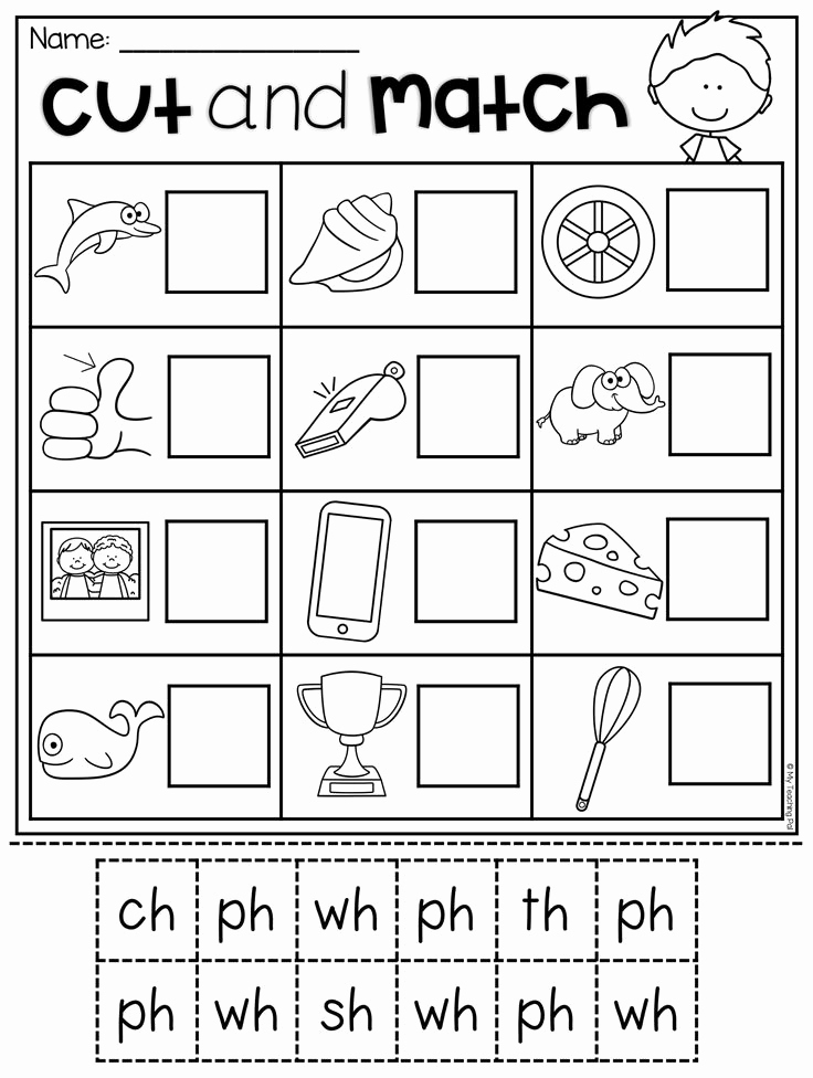 Digraph Worksheet for Kindergarten