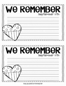 911 Worksheet for Kindergarten then Heart the Flag Craftivity by A Cupcake for the Teacher