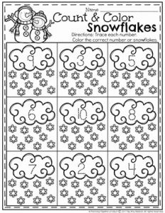 Math Worksheets for Kindergarten Big and Small and Snowman Activities for Preschool