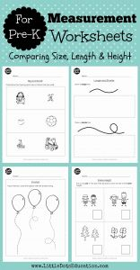Math Worksheets for Kindergarten Big and Small then Single Post
