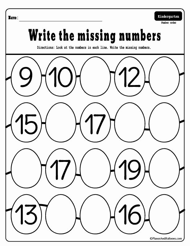 Numbers 1-50 Worksheet for Kindergarten Of Missing Numbers 1 50 Worksheets for Your Easter Holiday