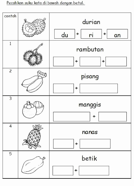 Worksheet for Kindergarten Bahasa Malaysia Of 54 Best Belajar Anak Tk Images On Pinterest