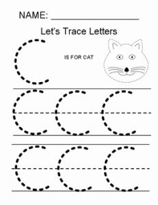 Worksheet for Kindergarten Letter C and Tracing the Letter C by Making Math Simple for All Kids
