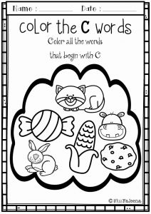 Worksheet for Kindergarten Letter C then Alphabet Letter Of the Week C