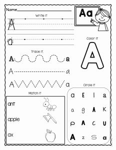 Worksheet for Kindergarten Letter Z Of A Z Letter Worksheets Set 3