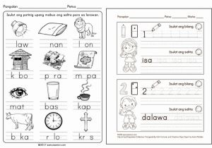 Worksheets for Kindergarten In Filipino or where to Find Free Printable Worksheets for Reading and