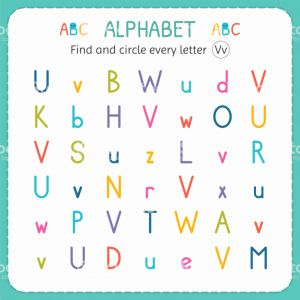 Worksheets for Kindergarten Letter V or Find and Circle Every Letter V Worksheet for Kindergarten