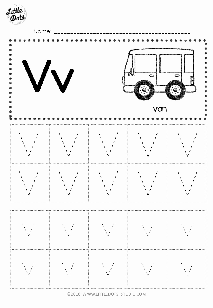 Worksheets for Kindergarten Letter V then Free Letter V Tracing Worksheets