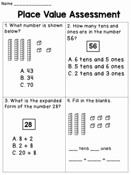 Worksheets for Kindergarten Tens and Ones and Place Value Worksheets for First Grade Tens and Ones by