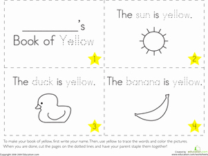 Yellow Worksheet for Kindergarten or the Color Yellow Worksheet
