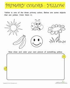 Yellow Worksheet for Kindergarten then 66 Best Worksheets Images On Pinterest
