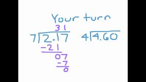 Dividing Decimals by whole Numbers 5th Grade and Dividing Decimals by A whole Number