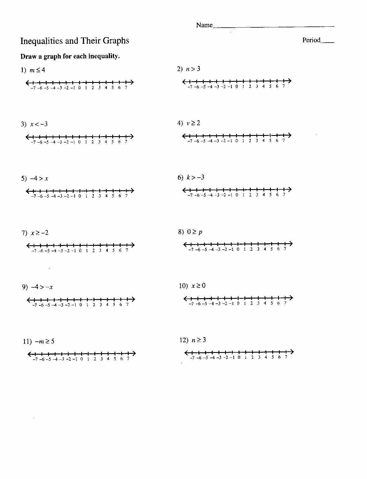 Graphing Inequalities On A Number Line Worksheet Of 16 Best Of Mon Core Number Line Worksheet