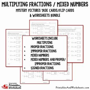 Multiplying Mixed Numbers Worksheet Of Multiplying Fractions Task Cards and Worksheets Bundle