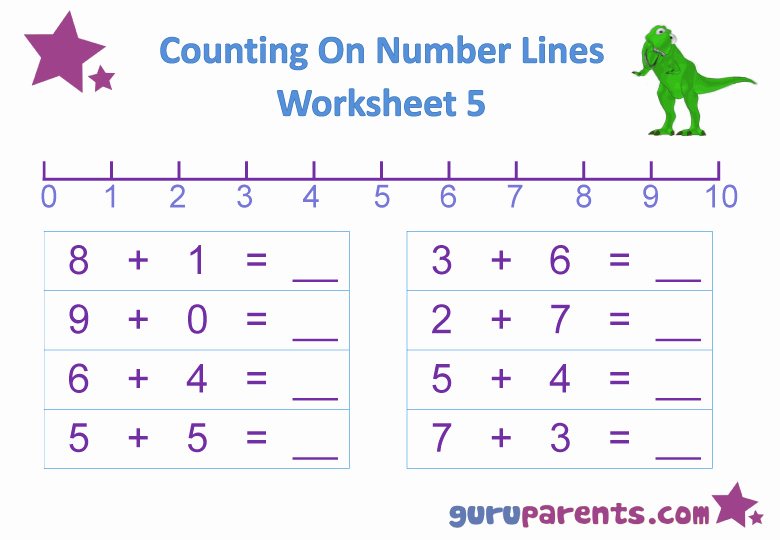 Number Line Worksheets then Number Line Worksheets
