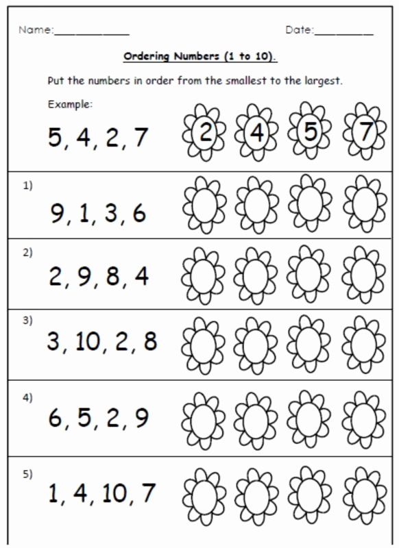 Ordering Numbers to 20 Worksheet or Free ordering Worksheets and Number Cards 1 20