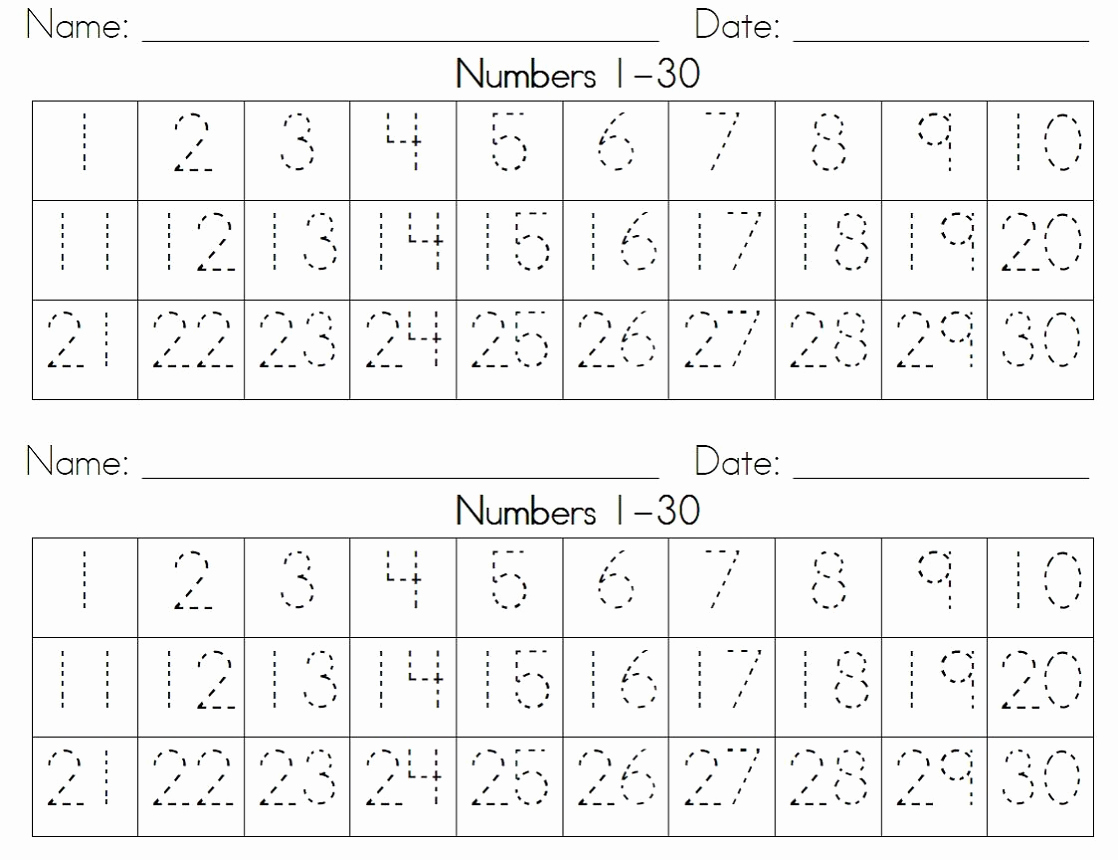 Worksheets Factors Of Numbers From 1 to 30 and Printable Number 1 30 Worksheets