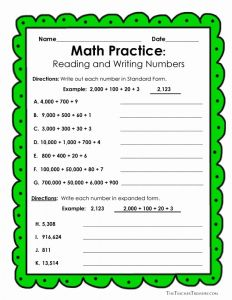 Writing Numbers In Standard form Worksheets Of 17 Best Images About Place Value On Pinterest