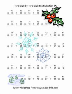 Christmas Activity Sheets and Multiplication Two Digit by Two Digit Vertical 49 Per