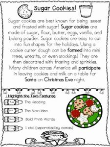 Christmas Reading Worksheets 2nd Grade and 1st 2nd 3rd Holiday Non Fiction Christmas Reading