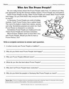 Christmas Reading Worksheets 2nd Grade and Christmas Reading Prehension Worksheets 2nd Grade