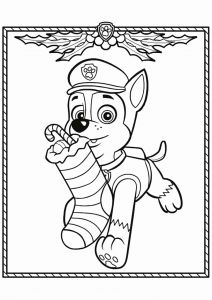 Free Printable Christmas Coloring Pages and Chase Paw Patrol Coloring Pages to and Print for Free