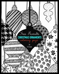 Free Printable Christmas Coloring Pages or Christmas ornaments Adult Coloring Page U Create