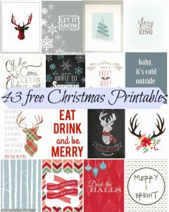 Free Printable Christmas Worksheets or 43 Free Christmas Printables