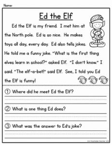 Reading Worksheets Christmas 2 Of Christmas Activities Christmas Reading Passages and