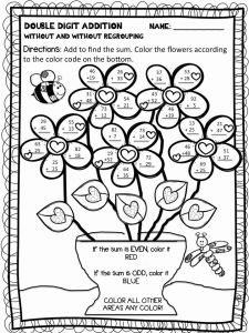 Addition Color by Number and 34 Color by Number Addition Worksheets