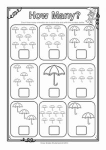 Counting Numbers Worksheets or How Many Numbers to 10 Ten Count and Write Worksheets