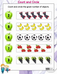 Counting Numbers Worksheets then Counting – Nursery Math Worksheets