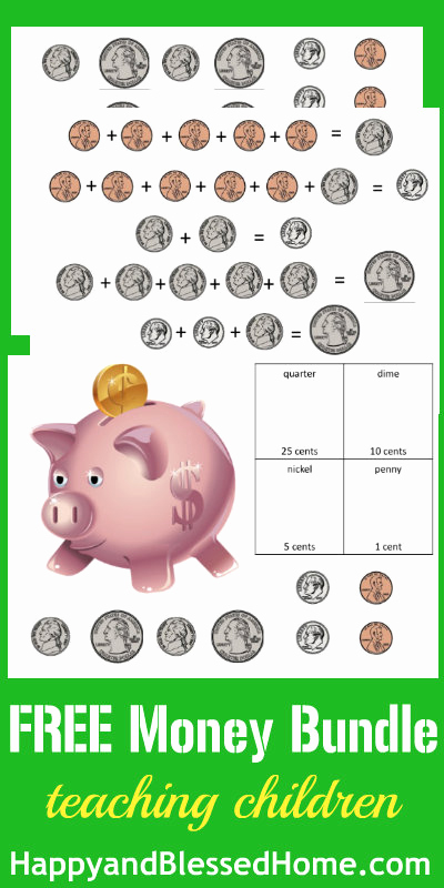 Free Printable Money Worksheets or Counting Money Printable Worksheets Happy and Blessed Home