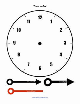 Learn Clocks Worksheet Printable and Little Learning Labs Primary Telling Time Printable Clocks