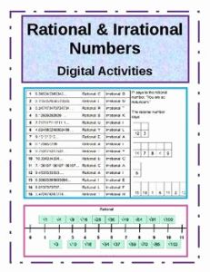 Rational and Irrational Numbers Worksheet or Rational Vs Irrational Numbers Worksheet Worksheet