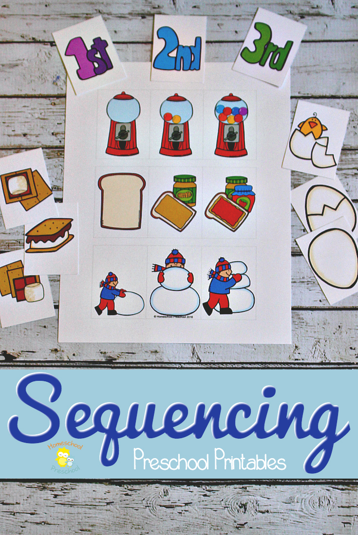 Preschool Printable Activities for Free Download or Free Sequencing Preschool Printables Money Saving Mom