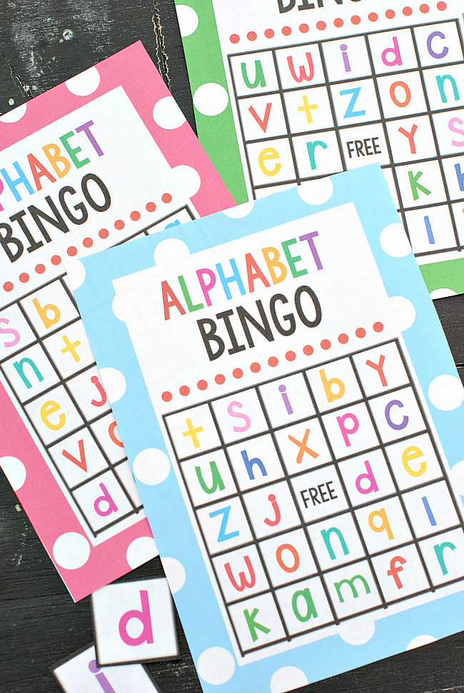 Printable Games for Kids Bingo Of Free Printable Alphabet Bingo Game