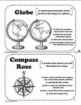 Printable Worksheets Reading A Map and Globe or Maps and Globes A Printable Book for Introducing or Reviewing Map Skills