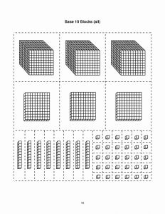 Base Ten Blocks Printable 2 Of Base Ten Block Templates Base 10 Blocks Thousands Math