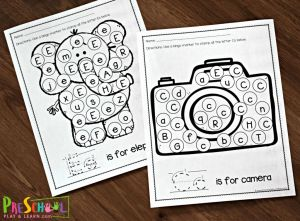 Find A Letter Worksheet Printable and Free Letter Recognition Worksheets A to Z