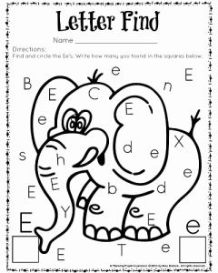 Find A Letter Worksheet Printable or Cute Letter Find Worksheets with A Freebie Planning Playtime