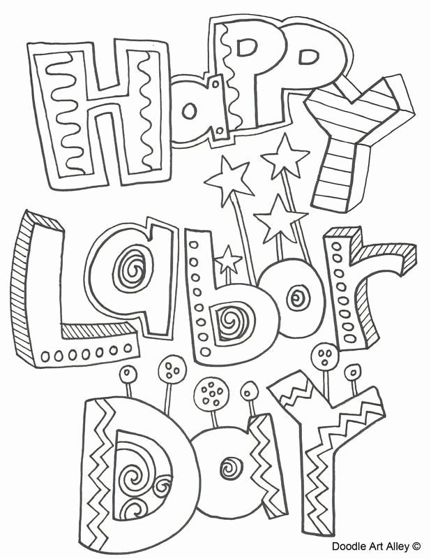 Labor Day Careers Worksheet Printable or Labor Day Coloring Pages From Doodle Art Alley Print and Enjoy