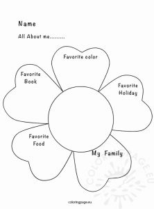 Printable Coloring Book for Me or All About Me Activity Sheet – Coloring Page