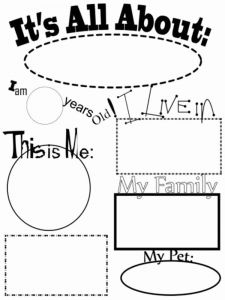 Printable Coloring Book for Me or All About Me Coloring Pages Free Printable All About Me Coloring Pages
