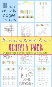 Printable Games for Kids Of Printable Summer Activity Pack