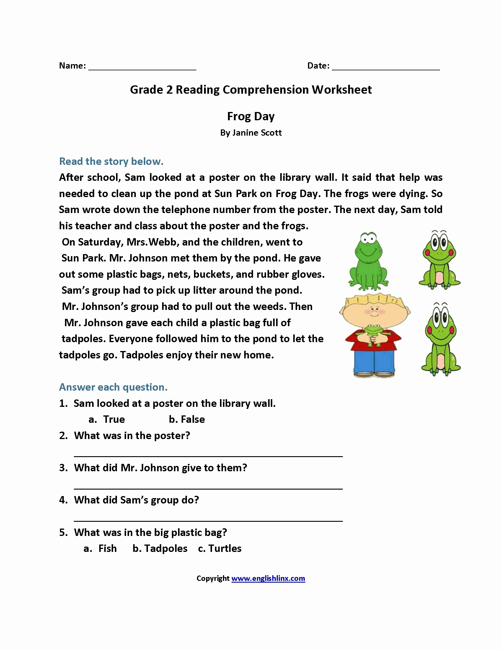 Printable Worksheets for Kids 4th Grade and 4th Grade Reading Prehension Worksheets Multiple Choice for — Db Excel