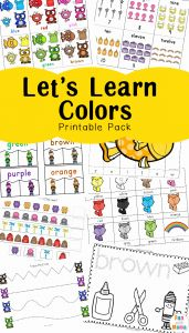 Printable Worksheets for Kindergarten Learning or Learning Colors with Fun Color themed Printable Worksheets Fun with Mama