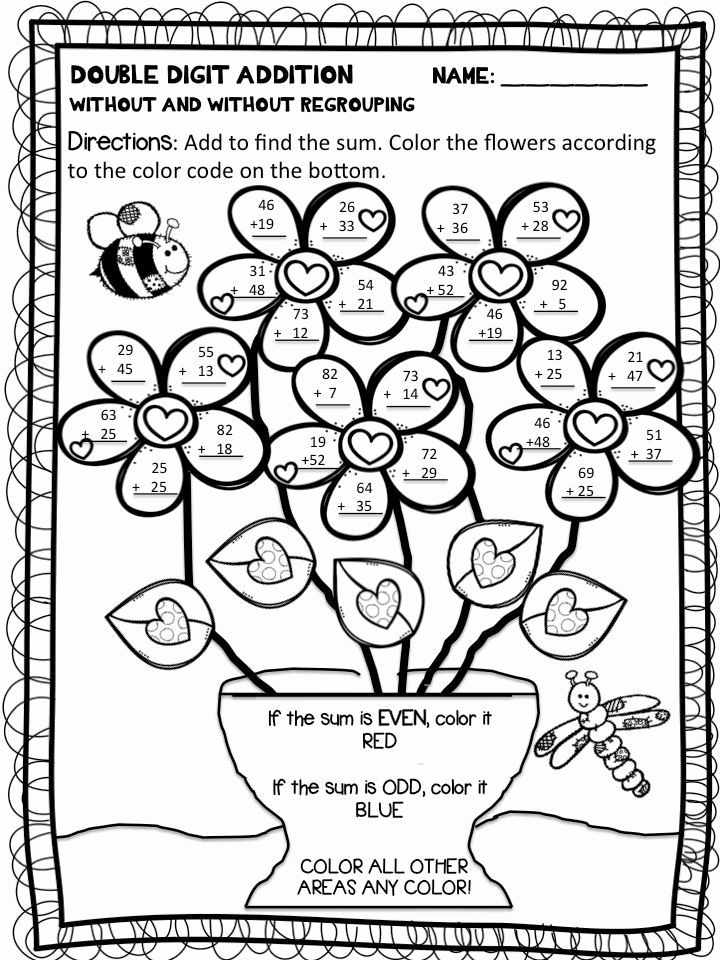 Addition and Subtraction Coloring Worksheets for Kindergarten Of Addition and Subtraction Coloring Worksheets