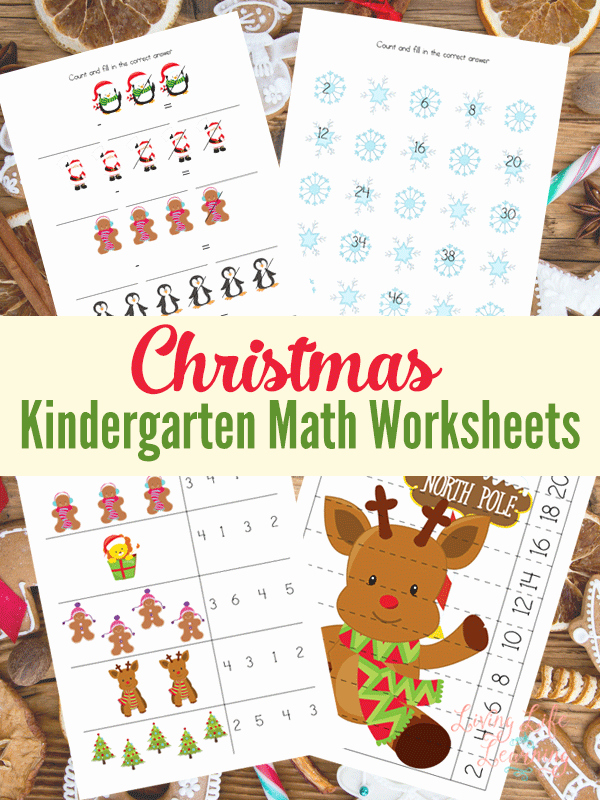 Christmas Addition Worksheets for Kindergarten Of Christmas Kindergarten Math Worksheets