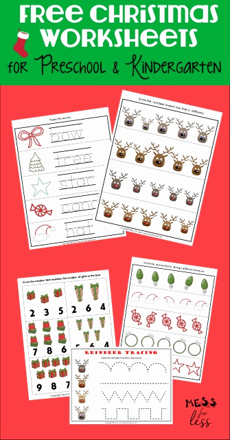 Christmas Worksheets Kindergarten Free Printable and Free Preschool and Kindergarten Worksheets for Christmas
